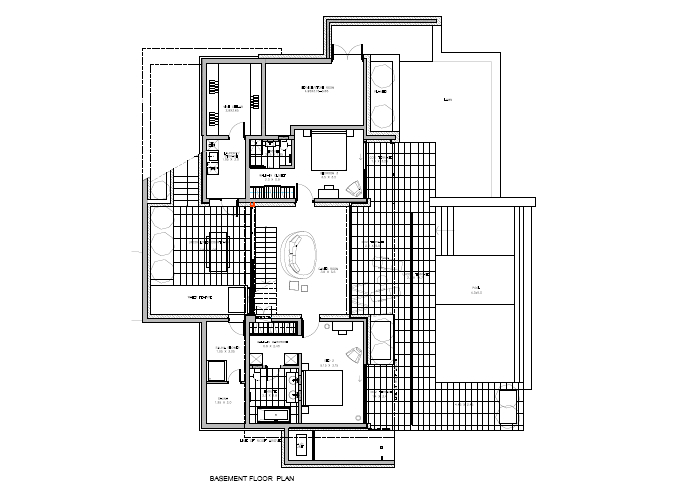 Floor Plan Basement 3 Bedrooom type Callisto