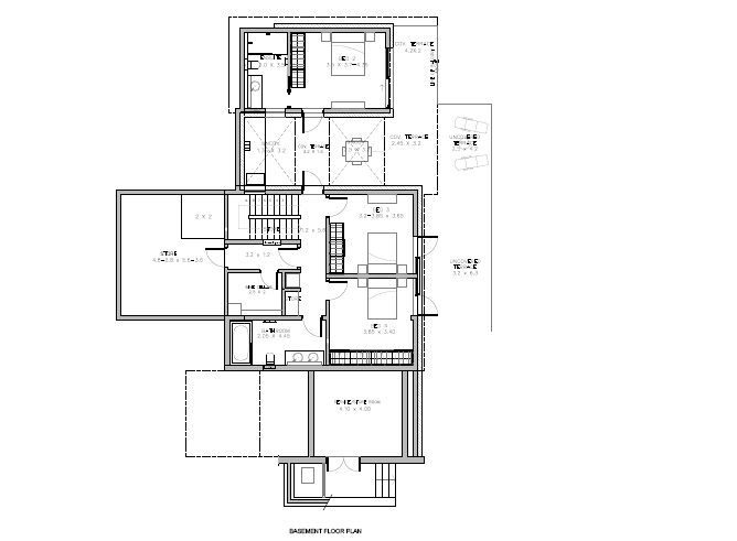 Floor Plan Basement 4 Bedrooom type Petra