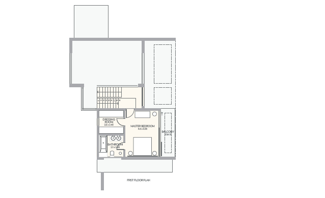 Floor Plan First Floor 3 Bedrooom type Asteria