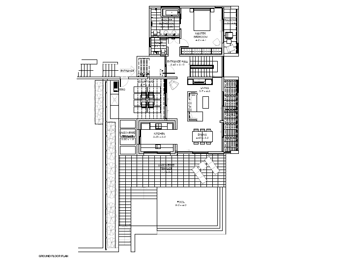Floor Plan Ground Floor 4 Bedrooom type Electra