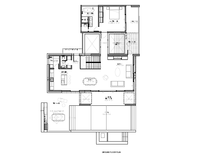 Floor Plan Ground Floor 4 Bedrooom type Petra